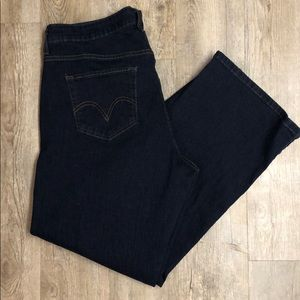 Levi's perfectly slimming 512 Jeans Dark wash